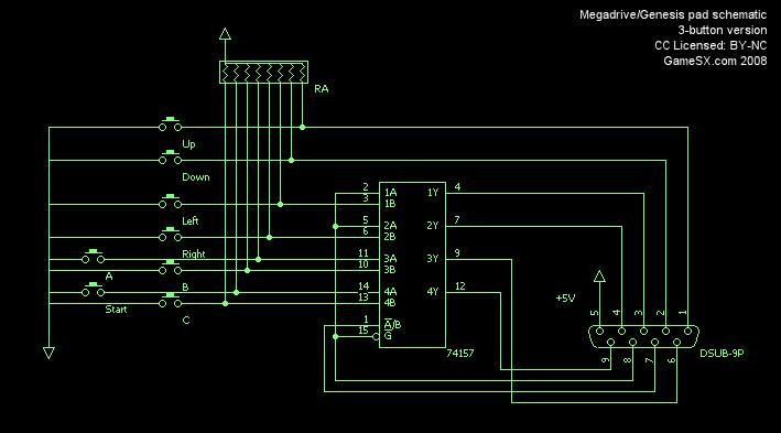 controls megadrive genesis controller 3 nfg gamesx
