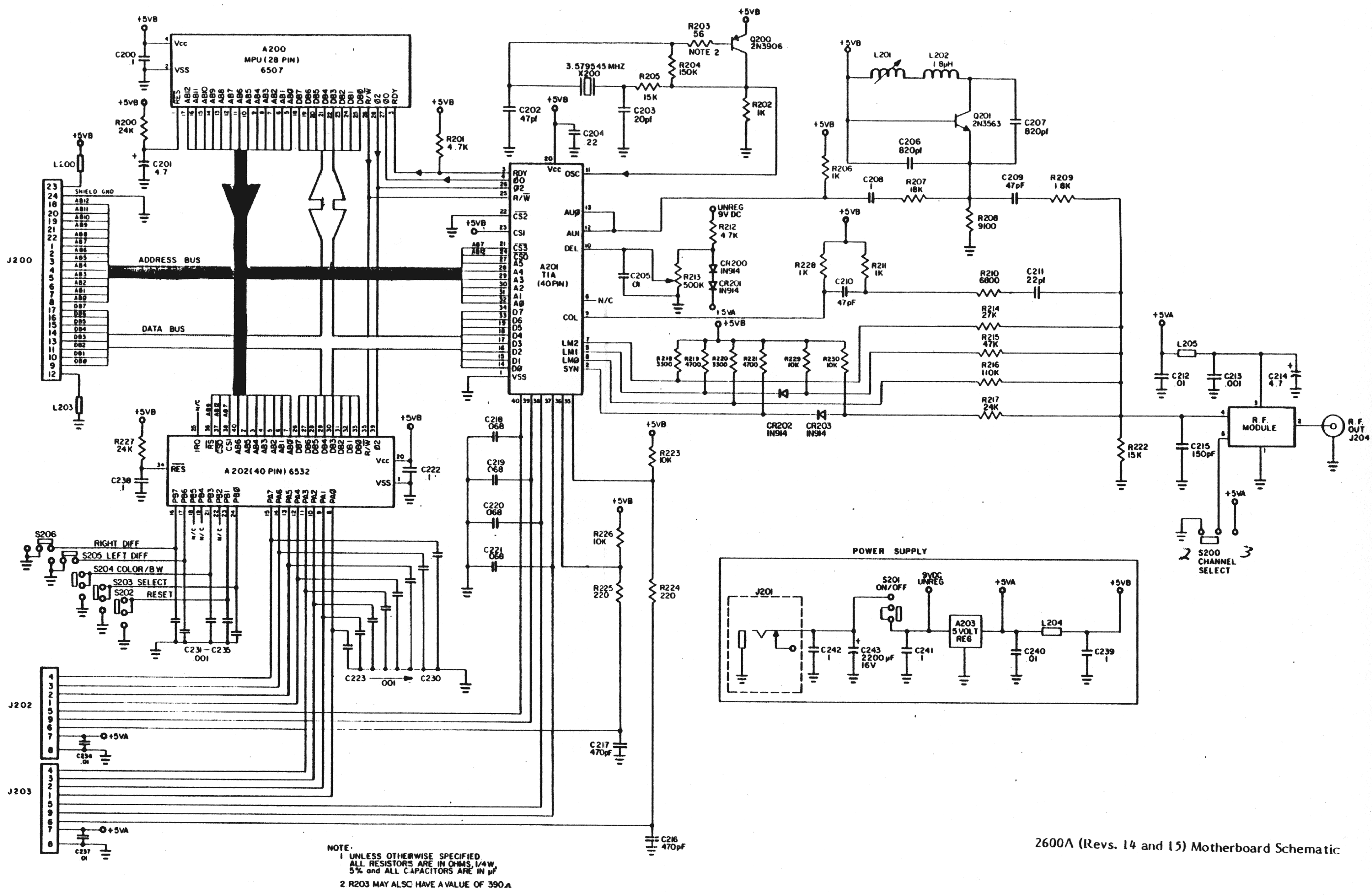 Schematicsconsole Related Schematics Nfg Games Gamesx Free Schematic Diagram Download V 2600a R14 15 Motherboard