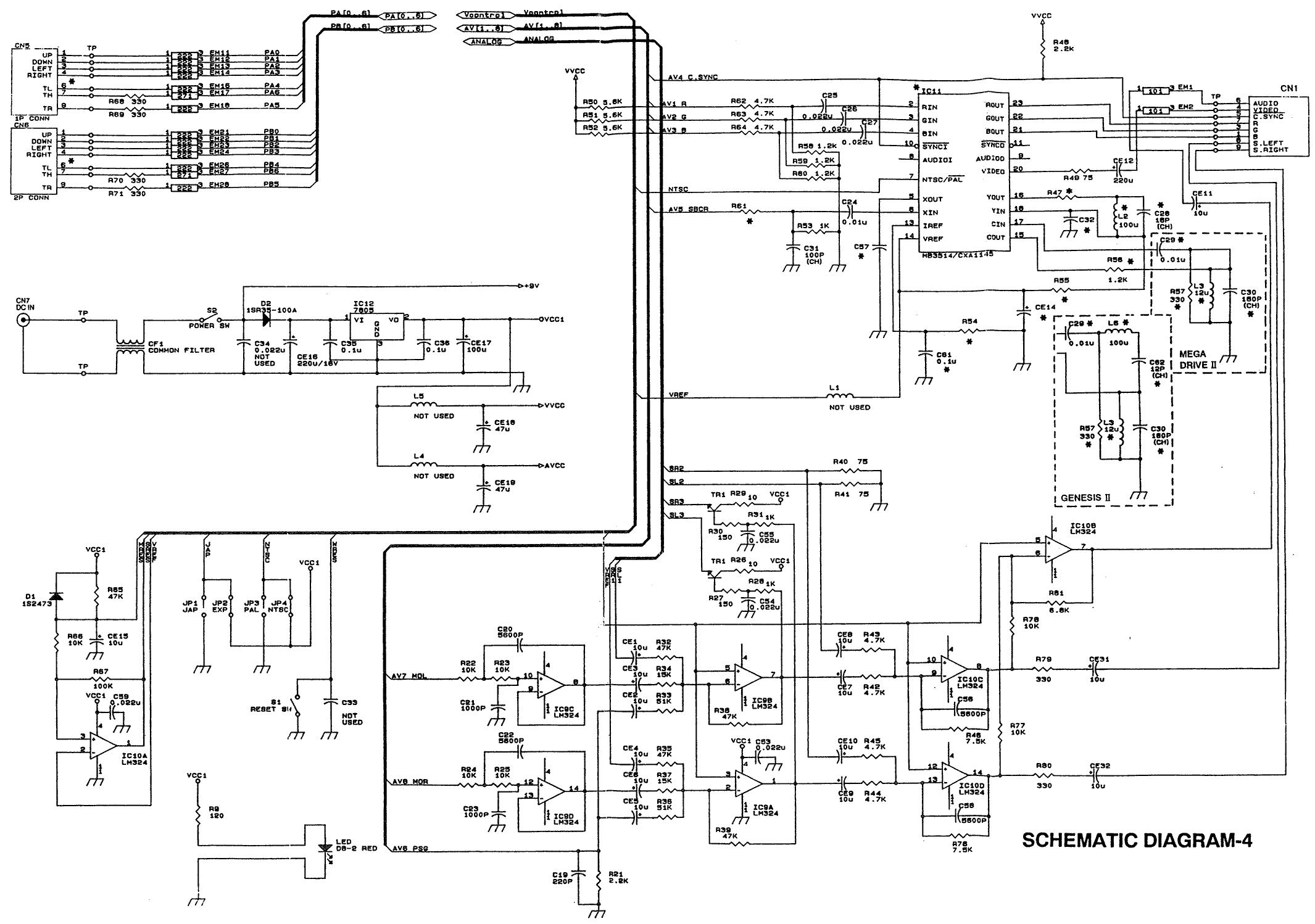 Schematicsconsole Related Schematics Nfg Games Gamesx Genesis House Wiring Diagram Genesis2 Md2 Schematic 4 Of